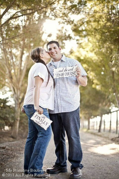 HE FINALLY ASKED...She said Yes of Course Set, Save the Date Sign, Photo Props,  Announcement, Engagement Photos, Photographer on Etsy, $34.00