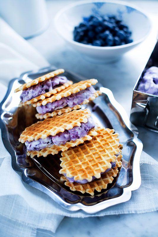 Blåbärssandwich - recept - Mitt kök