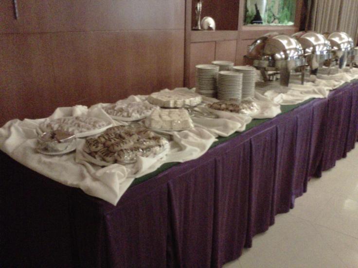 coffee break menu at training event in Pacific Hotel