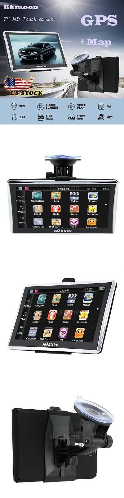 Vehicle Electronics And GPS: 7 Portable Hd Car Gps Navigation Touchscreen Fm Mp3 Video Play Usb Tf +Free Map -> BUY IT NOW ONLY: $31.39 on eBay!