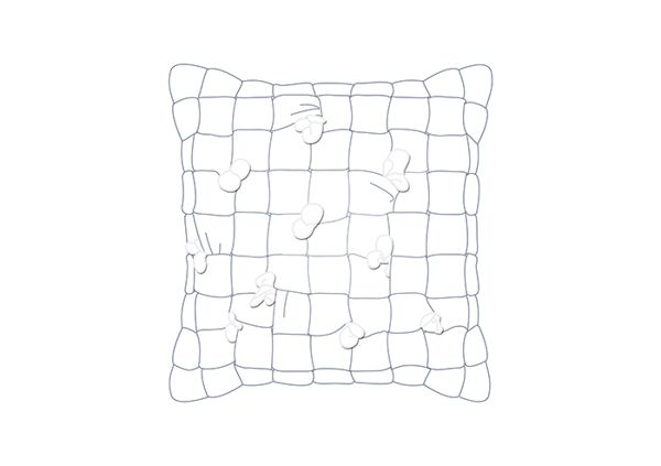 HUHU cushion by cool enough studio.  www.coolenoughstudio.com