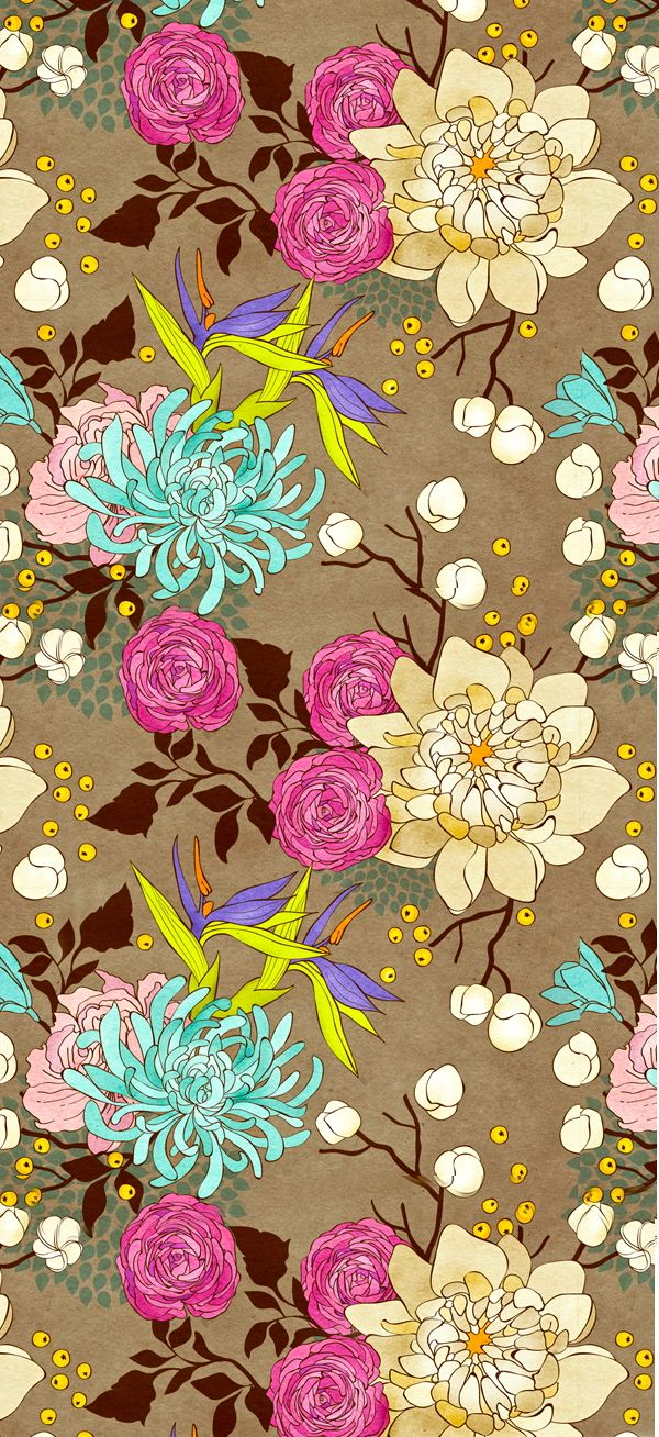 www.behance.net floral pattern