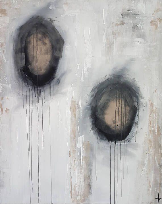 grand tableau abstrait contemporain unique fait main