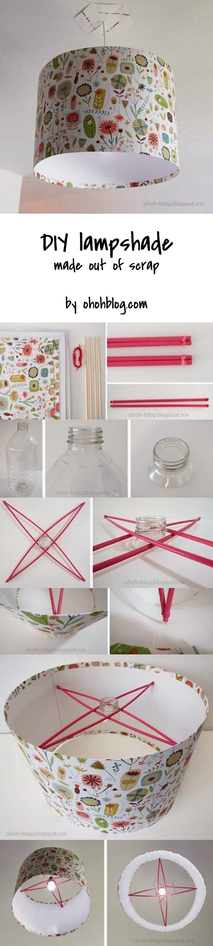 Made a stunning lampshade out of scrap material! DIY lighting - DIY lampshade