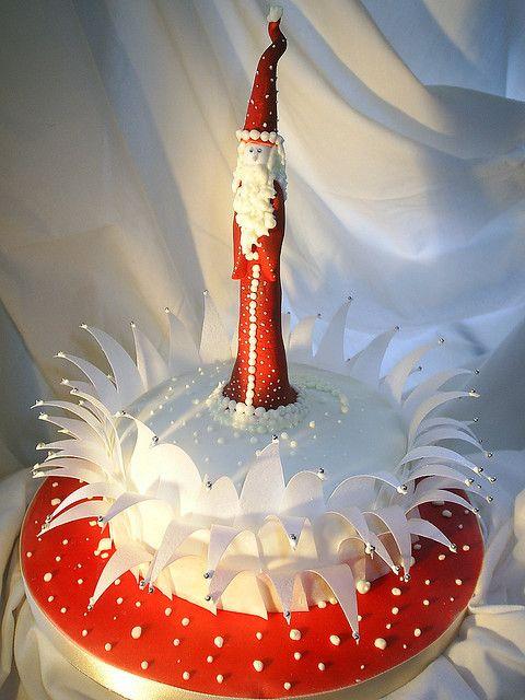 father xmas cake by sarah288, via Flickr
