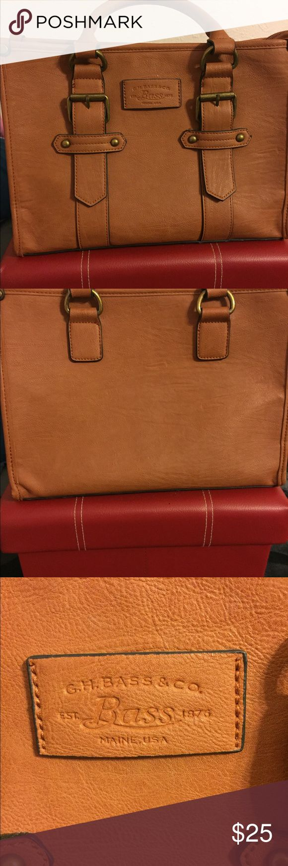 G.H. Bass & Co. Tan Leather Handbag Beautiful tan leather handbag from G.H. Bass & Co.  Excellent condition. Interior is very clean. No marks, stains, or tears. Bass Bags Satchels