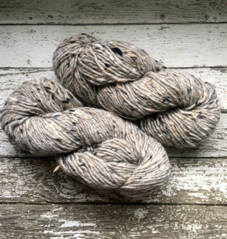 Reynolds Tipperary Tweed Irish Wool Yarn Light Gray Grey Ireland