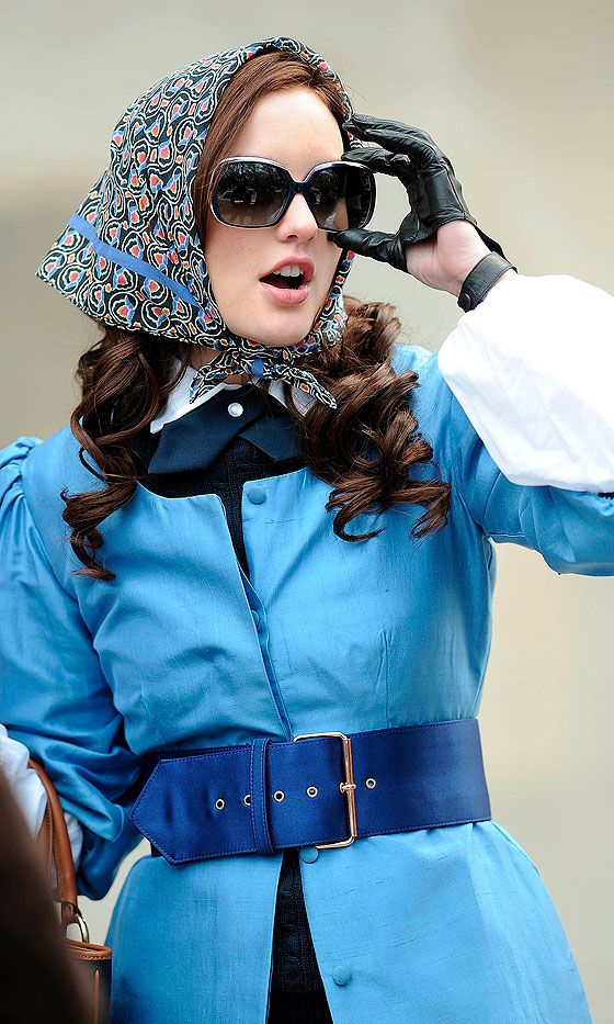 Humiliated Over Being Dethroned From Her Clique, Blair Waldorf (Played By Leighton Meester)Goes In To Disguise, 2008