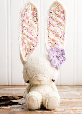 Love her long eared rabbit! Her long legged monkeys are great too! No patterns but lots of inspiration