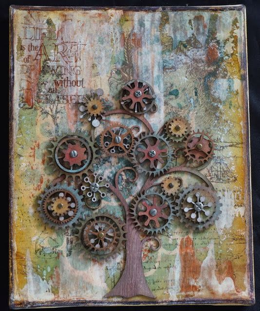 ML Design: Ink, Paint, Stamp & Paper Bliss: A Tree Canvas Trilogy