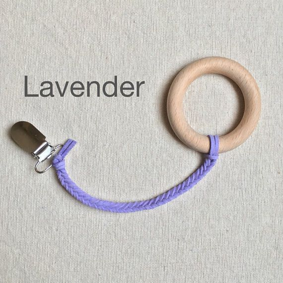 Lavender Braided Soother Clips