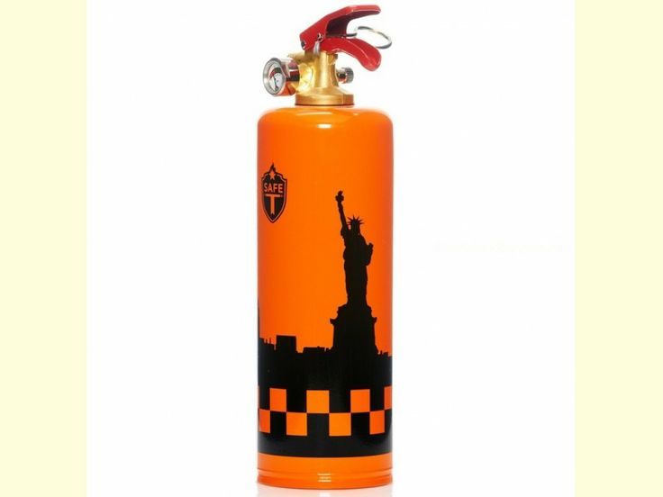 Extintor decorado - Modelo SKY LINE NUEVA YORK de la marca Safe-T (1 kg. de polvo ABC). Garantía de 5 años.