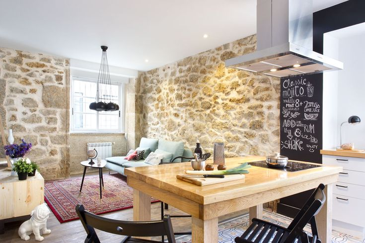 A Coruña for rent? La reforma de esta vivienda intenta apegarse a la lógica del alquiler, apelando a un gusto joven, demostrando que es posible decorar con cautela. #Kitchen #HomeDecor #InteriorDesign #Desing #Home