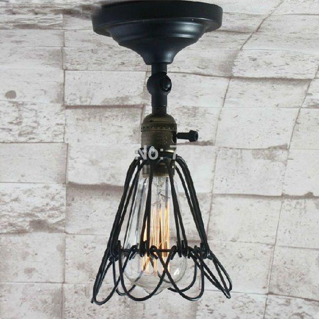 Новый творческий старинные промышленного потолочные светильники RH лофт для дома кофе бар ресторан кухня огни dia.10 * H30cm