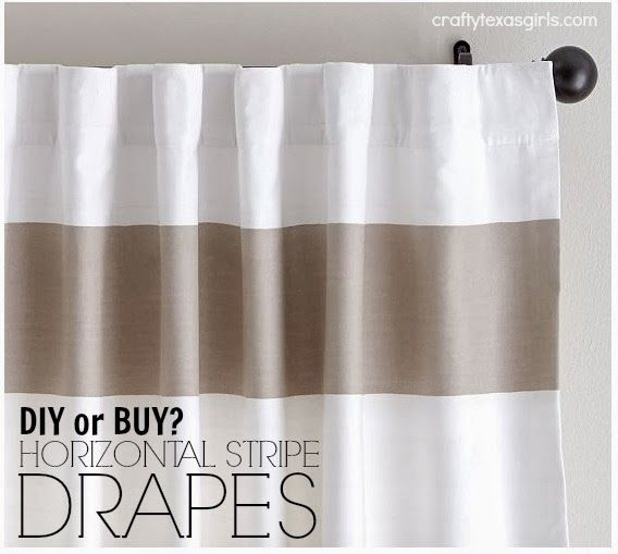 Crafty Texas Girls: Horizontal Striped Curtains (Drapes)