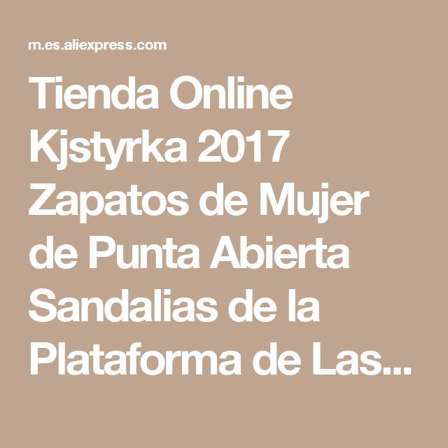 Tienda Online Kjstyrka 2017 Zapatos de Mujer de Punta Abierta Sandalias de la Plataforma de Las Mujeres Summmer Gladiador Trifle Zapatos de Mujer Blanca de Plata Negro | Aliexpress móvil