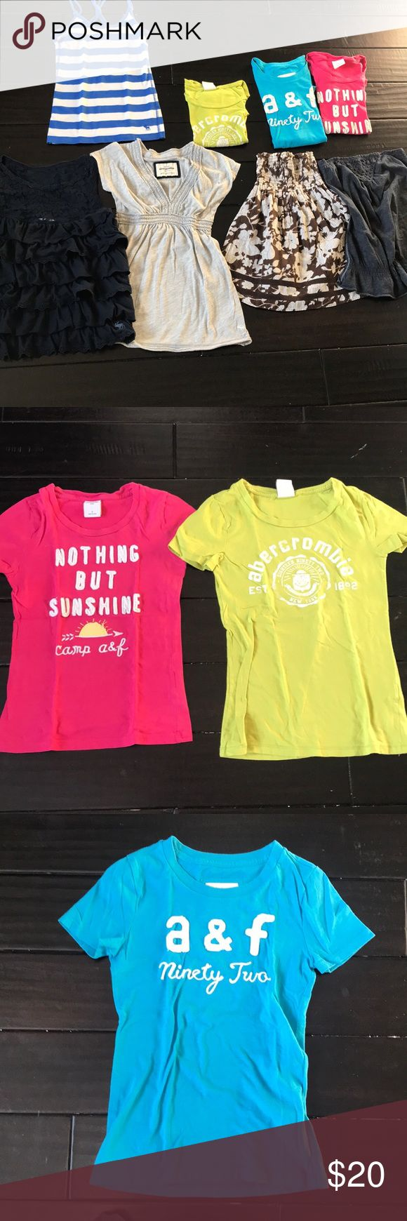 Abercrombie girls top lot of 8 Abercrombie girls top lot of 8 Sizes small and Medium  3 T- shirts 👚  2 tank tops One shirt  2 strapless tops Normal wash wear Abercombie Kids Shirts & Tops Tees - Short Sleeve