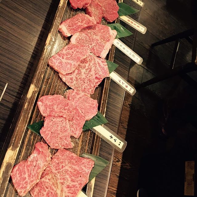 飛騨牛食べ比べ(^^) #かんかこ #焼肉 #飛騨牛 #肉