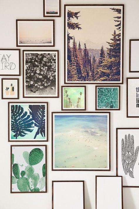 Walnut Wood Art Print Frame
