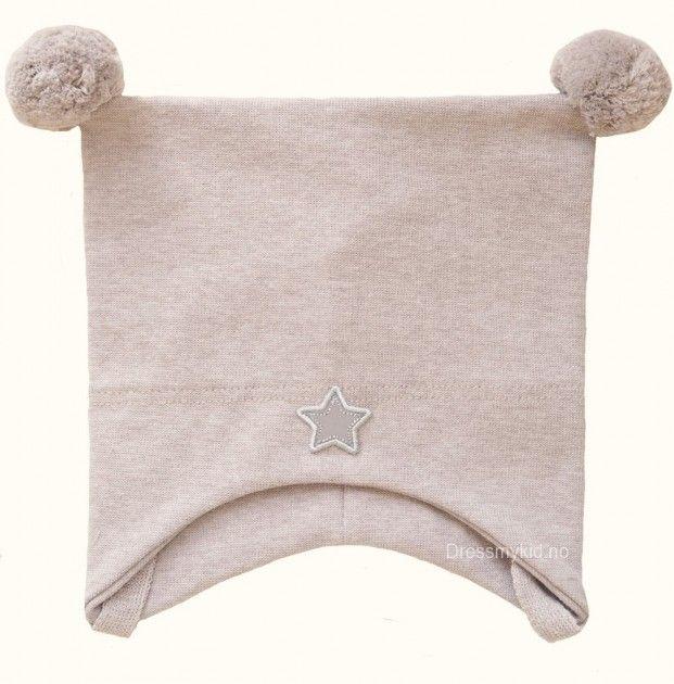 Kivat vårlue, beige med dusker og stjerne | DressMyKid.no - Barn og baby - Alltid gode tilbud
