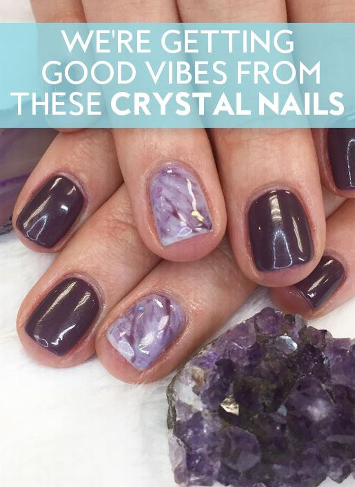 Take your crystal lifestyle to the next level with these creative nail designs.