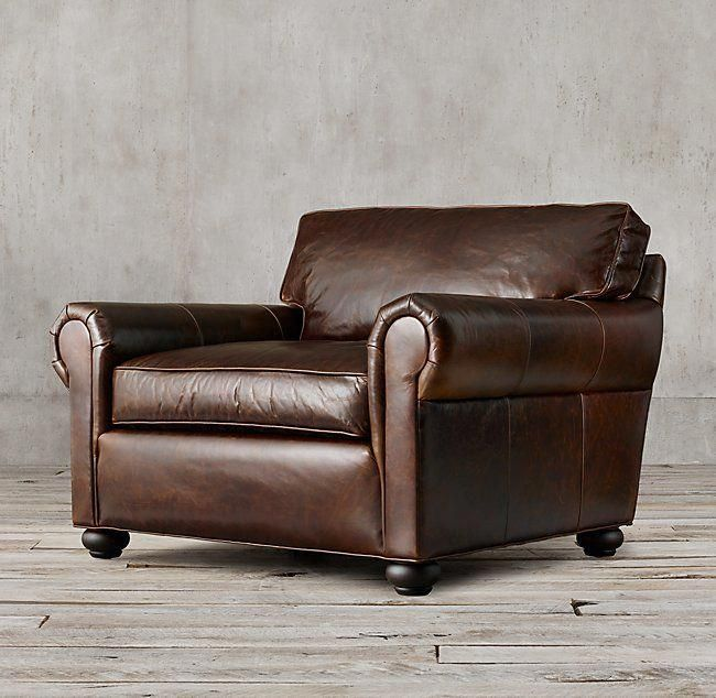 Original Lancaster Leather Chair And A Half Chair Best Leather