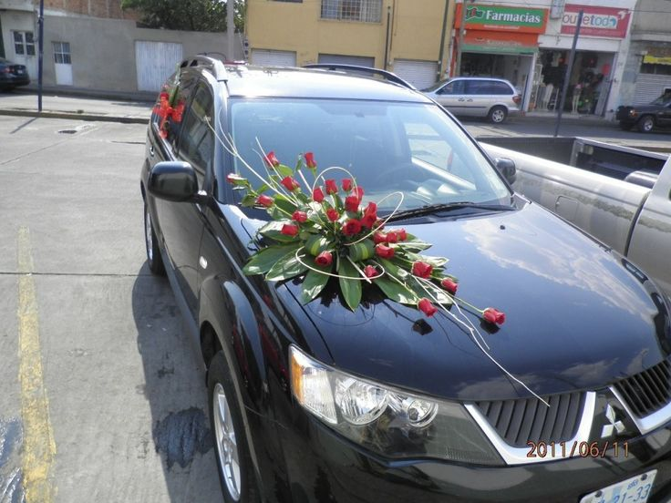 arreglos para carro de boda - Google Search
