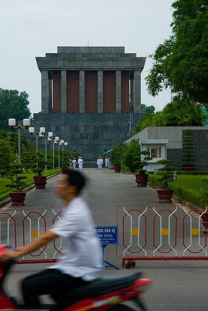 Ho Chi Minh's Mausoleum in Hanoi, Vietnam by Adam Cathro, via Flickr