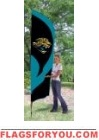 Jaguars Tall Team Flag 8.5' x 2.5'