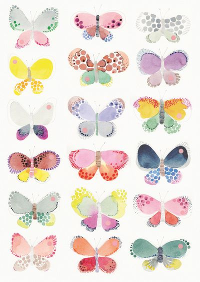 Nice present for the holidays! - Painted butterflies  Art Print