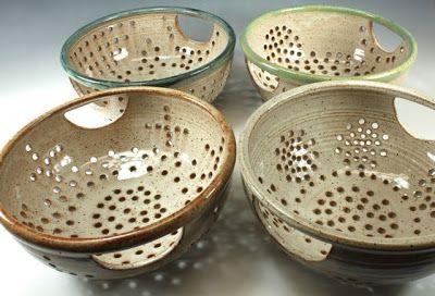 bridges pottery blog: colanders.