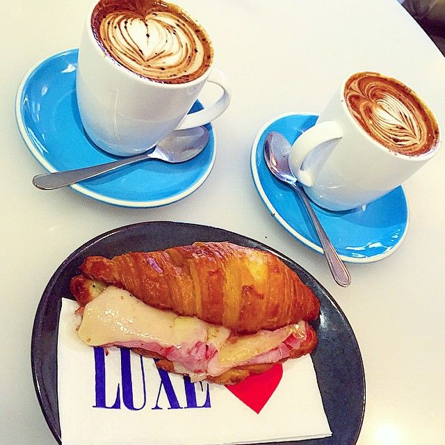 """Two large mochas please"" at @luxesydney ❤️ by @thecoffeechickee"