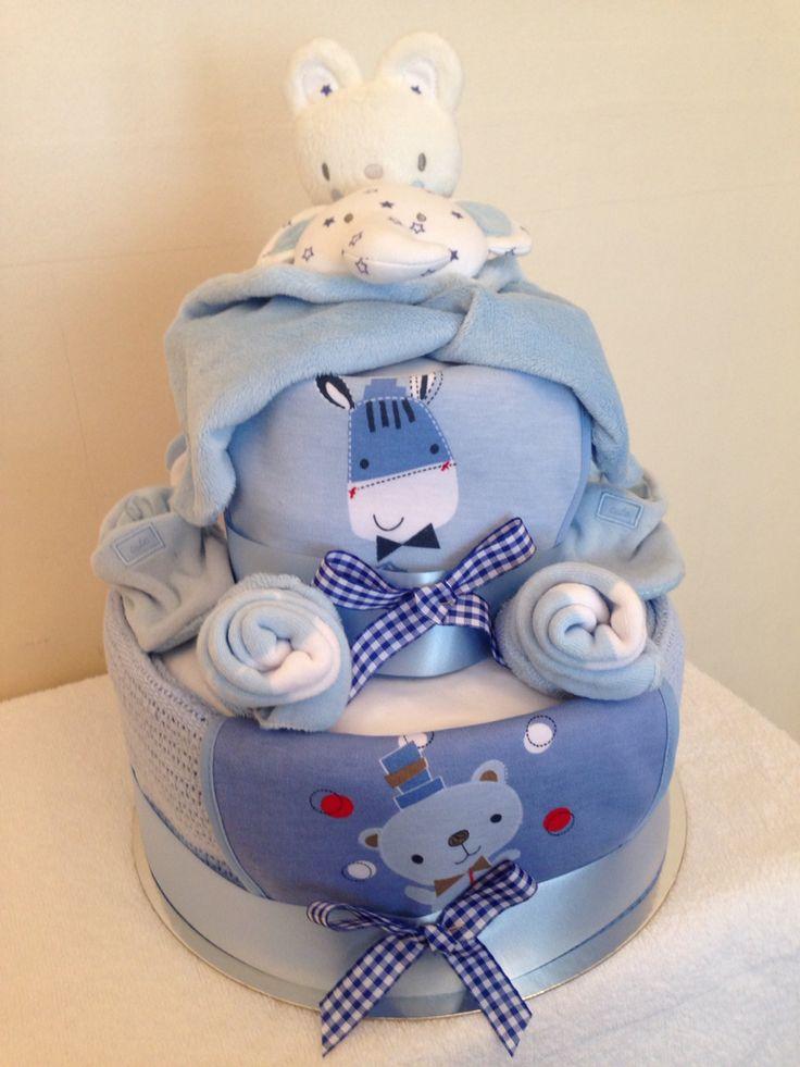 Beautiful boy nappy cake