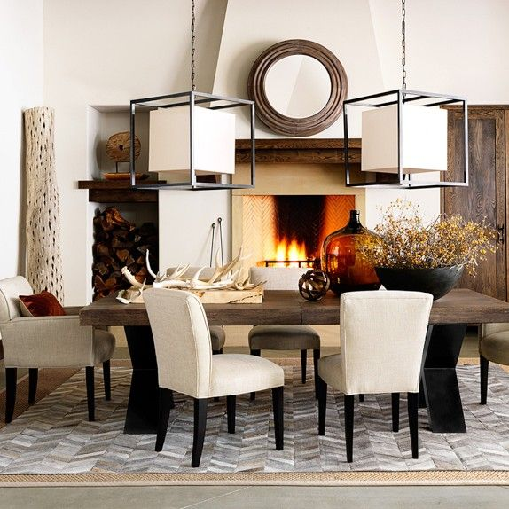 William Sonoma Home Lighting: Navarro Extendable Dining Table
