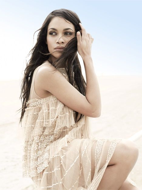 Rosario Dawson Shines On Net-A-Porter's 'The Edit' Issue
