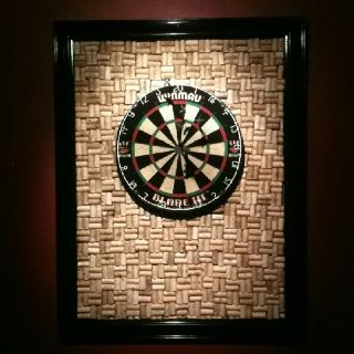 dartboard with wine cork backsplash - Google Search