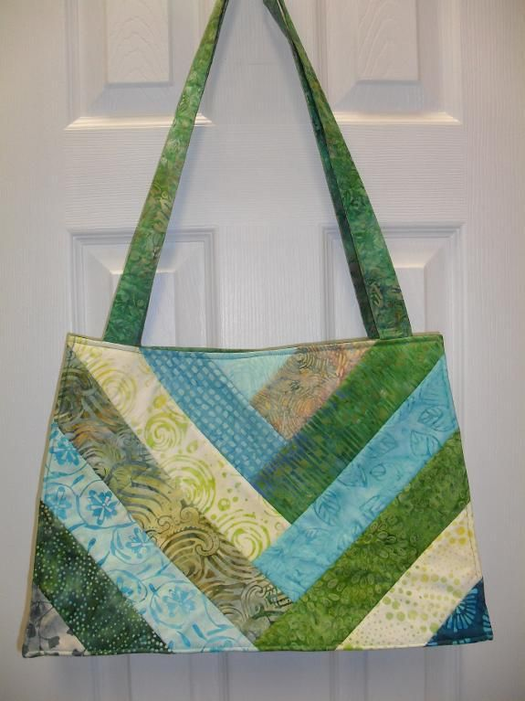 """Strip V"" Quilt As You Go Bag by Michele D Green - Craftsy"