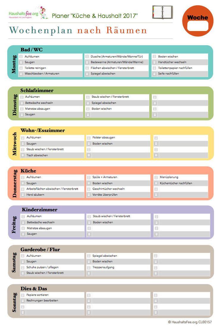 Ideal Checklisten Paket Putzen und Hausarbeit