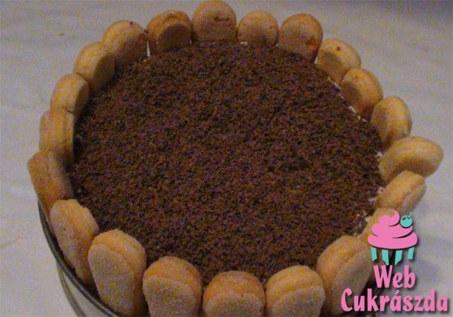 Krémes sütés nélküli torta
