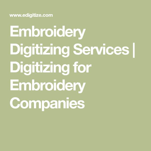 Embroidery Digitizing Services | Digitizing for Embroidery Companies