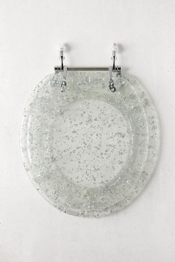 Metallic Flecked Toilet Seat Metal Toilet Hanging Wall Planters