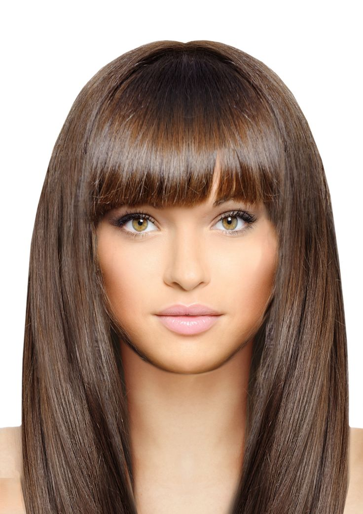 Mia® Clip-n-Bangs®, Clip On Synthetic Wig Hair Piece, on Weft Clips, Medium Brown Color, for Women, Teens, Dress-up, Halloween 1pc