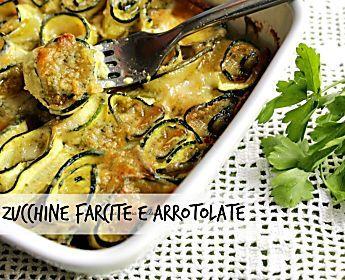 zucchine farcite e arrotolate ricetta preparazione contorno