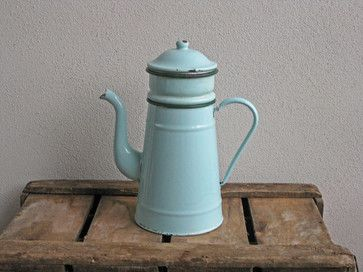 Biggin Mint Green French Enamel Coffee Pot by Histoires traditional coffee makers and tea kettles