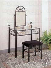 Gloria Black Makeup Vanity Table Set