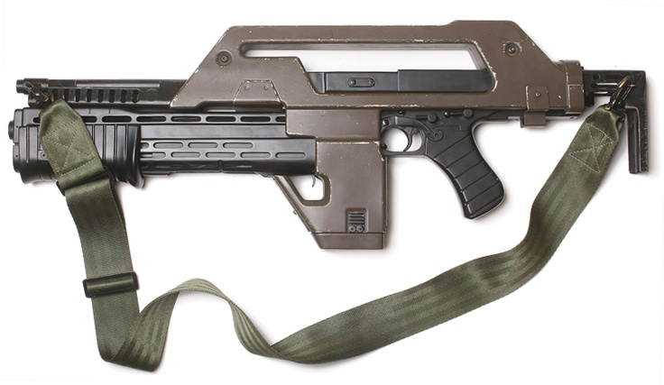 """""""Remember, short, controlled bursts""""    M41A Pulse Rifle (Colonial Marines issue)"""