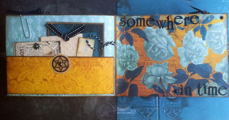 Scrapbooking: Vintage folding camera album--somewhere in time (pocket page)