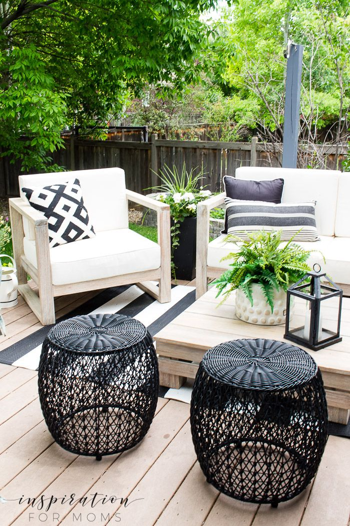 How To Decorate For Easy Outdoor Living Inspiration For Moms Outdoor Decor Backyard Outdoor Living Furniture Outdoor Living