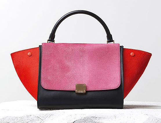 Red, pink and trapeze.  Wear this in the real world.  The Celine Fall 2014 Handbags Lookbook Has Arrived - PurseBlog