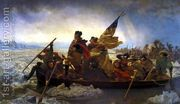 Washington Crossing the Delaware 1851  by Nicolas-Bernard Lepicier